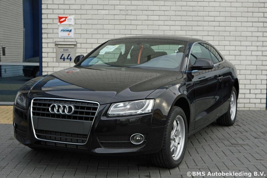 Audi A5 2008 Zwart Chestnut Sport Stoel Bms Autobekleding