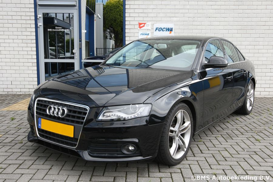 Audi A4 Sedan 2010 Zwart Diamond Pattern grijs stiksel ...