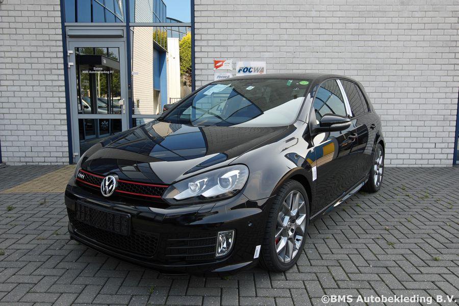 Vw Golf Gti Edition 35 Nappa Zwart Alcantara Rood Stiksel Bms Autobekleding