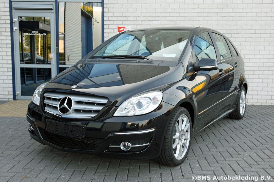 Mercedes Benz B Klasse 2010 Leder Zwart Met Beige Stiksel