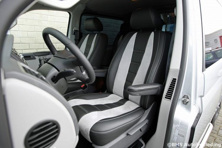 VW T5 BMS Autobekleding Zwart Nappa met Grijs Alcantara Ferrari 458 design (10)